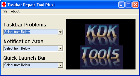 Taskbar Repair Tool Plus! - Windows