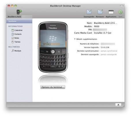 Blackberry Desktop Manager Mac OS