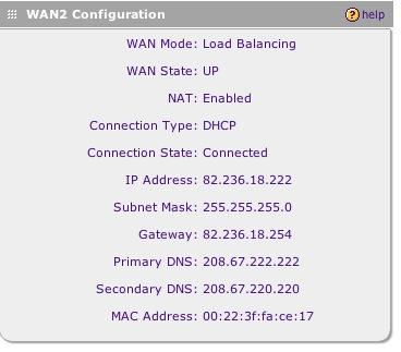 WAN Configuration - Netgear FVX538