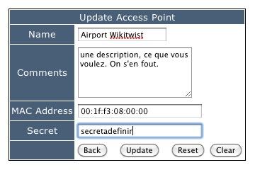 ajout d'un Access Point au serveur RADIUS hébergé