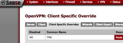 pfsense client specific overrides
