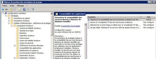 Compatibilité des applications - RDS