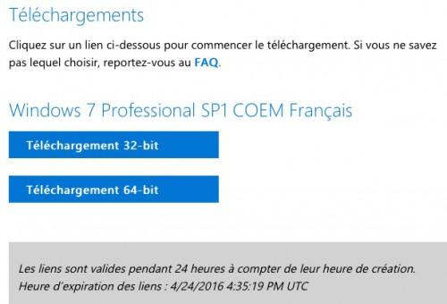 téléchargement ISO Windows - fichier 32 bits et 64 bits