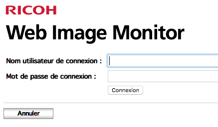 Ricoh Web Image Monitor Login